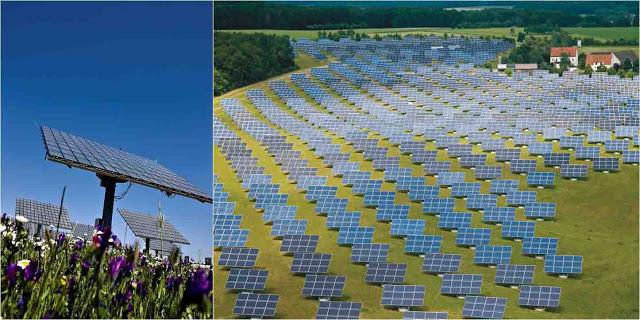 placa solar + campo solar